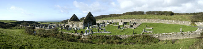 Rovine di una cappella irlandese Fotografie Stock