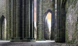 Rovine di una cattedrale Fotografia Stock
