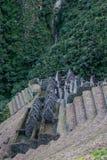 Rovine di una città antica su Inca Trail a Machu Picchu, Perù Fotografie Stock Libere da Diritti