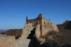 Rovine di una torre nella grande muraglia della Cina Fotografia Stock Libera da Diritti
