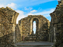 Rovine di vecchia cattedrale, Glendalough Immagini Stock Libere da Diritti