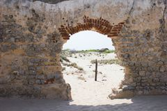 Rovine di vecchia chiesa fotografia stock libera da diritti