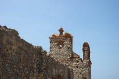 Rovine di vecchia chiesa in Danushkodi Fotografie Stock Libere da Diritti