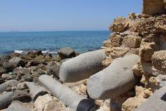 Rovine di vecchia città Cesarea Fotografia Stock Libera da Diritti