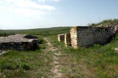 Rovine di vecchia città greca antica Argamum (Orgame) 2 Fotografie Stock Libere da Diritti