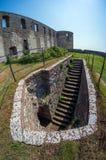Rovine di vecchio castello scandinavo Fotografia Stock