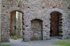 Rovine di vecchio castello scandinavo Fotografia Stock Libera da Diritti