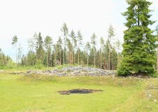 Rovine di vecchio monastero nel paradiso slovacco Fotografia Stock Libera da Diritti