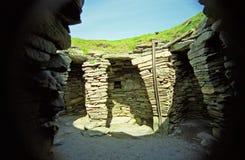 Rovine di Viking, Jarslhof, Shetland, Scozia Immagine Stock