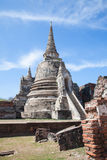 Rovine di Wat Phra Si Sanphet, Ayutthaya Fotografie Stock Libere da Diritti