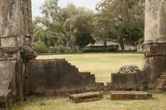 Rovine di Wilson Mansion al bluff del Palmetto Fotografie Stock