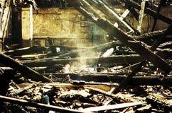 Rovine dopo fuoco Immagini Stock Libere da Diritti