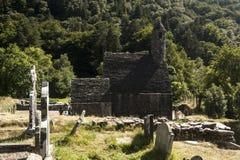 Rovine e cimitero di Glendalough Fotografia Stock Libera da Diritti