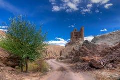 Rovine e monastero di Basgo, Leh, Ladakh, il Jammu e Kashmir, India Fotografia Stock Libera da Diritti