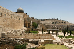 Rovine a Gerusalemme, Israele Fotografia Stock Libera da Diritti