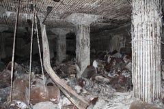 Rovine giapponesi del bunker del combustibile su Tinian 3 Fotografia Stock