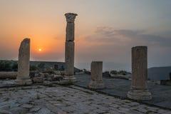 Rovine Giordano di Romani di gadara di Umm Qais Fotografie Stock