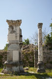 Rovine in greco l'annuncio Maeandrum, Turchia della magnesia della città del greco antico Fotografia Stock