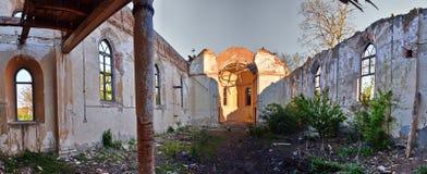 Rovine interne della chiesa Fotografie Stock Libere da Diritti