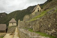 Rovine Machu interno Picchu Fotografie Stock
