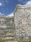 Rovine maya di Playa del Carmen Messico in tulum fotografia stock libera da diritti