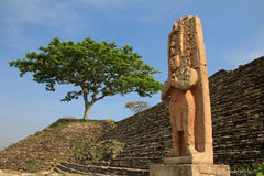 Rovine maya Tonina, Messico Fotografia Stock