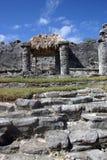 Rovine maya in Tulum Fotografie Stock Libere da Diritti