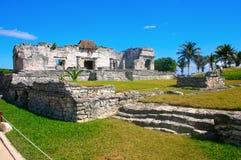Rovine maya in Tulum México Fotografie Stock Libere da Diritti