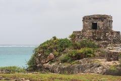 Rovine maya in Tulum, Messico Fotografia Stock Libera da Diritti