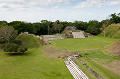 Rovine Mayan di Altun ha Immagini Stock