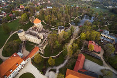 Rovine medievali del castello, Cesis, Lettonia Immagini Stock