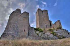 Rovine medioevali del castello Fotografia Stock