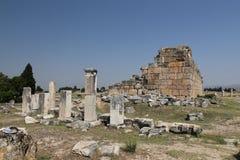 Rovine nella città antica di Hierapolis, Turchia Immagini Stock Libere da Diritti