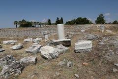 Rovine nella città antica di Hierapolis, Turchia Immagine Stock