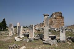 Rovine nella città antica di Hierapolis, Turchia Immagine Stock Libera da Diritti