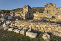 Rovine in Pamukkale Immagine Stock