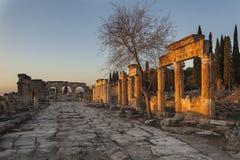 Rovine in Pamukkale Fotografia Stock Libera da Diritti