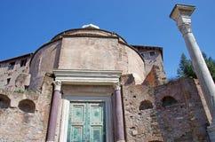 Rovine romane antiche Fotografia Stock