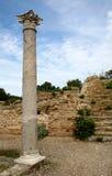 Rovine romane con la colonna del corinthian Immagine Stock