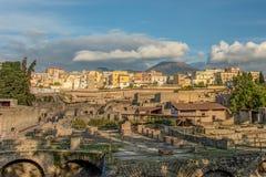 Rovine romane di Ercolano, golfo di Napoli, Ercolano, campania, Italia immagini stock libere da diritti