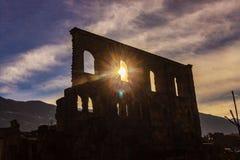 Rovine romane in Italia immagine stock