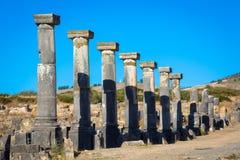 Rovine romane nel Marocco, Nord Africa Fotografia Stock