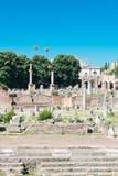 Rovine romane a Roma, tribuna Fotografia Stock Libera da Diritti