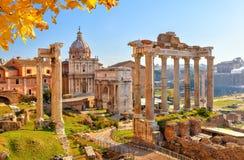 Rovine romane a Roma, tribuna Fotografie Stock Libere da Diritti