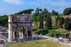 Rovine romane a Roma, tribuna Immagini Stock