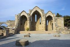 Rovine Romanic della basilica, Rodi Fotografia Stock