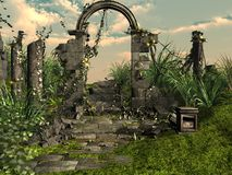 Rovine rotonde del tempio di Sarmisegetuza Regia Immagini Stock