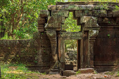 Rovine rotonde del tempio di Sarmisegetuza Regia Immagine Stock