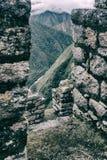 Rovine storiche di una città di inca Immagine verticale Fotografia Stock Libera da Diritti