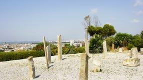 Rovine su una vangata in Byrsa, Tunisia Fotografia Stock